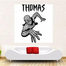 Spiderman Personalised name wall sticker Decal girls boys ROOM AFC4 DECAL DECOR