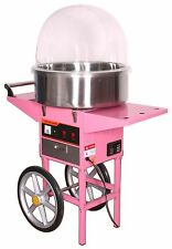 Cotton Candy Maker Machine/Cover With Cart, stainless steel candy floss bowl
