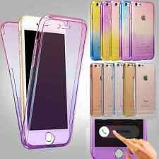 Shockproof 360° Silicone Protective Clear Case Cover For Apple iPhone 7 6 8 plus
