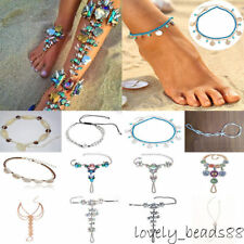 Charm Women Crystal Shell Starfish Anklets Sandal Beach Foot Ankle Chain Jewelry