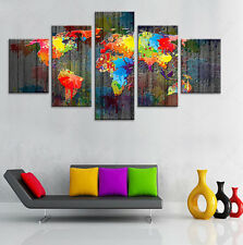 Art The World Map Painting Abstract Modern Canvas Poster Art Wall Home Decor