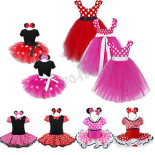 Girls Baby Toddler Minnie Outfit Costume Halloween Fancy Dress Up Xmas Costume