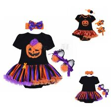 Infant Baby Girls Romper Bodysuit Outfit Halloween Fancy Dress Headband Shoes