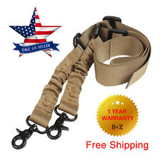 For AR-15 Adjustable Tactical 2 Two Point Rifle Gun Sling Bungee Strap Snap Hook
