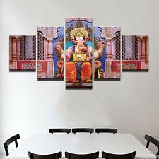 5Pcs Ganesha Painting Abstract Painting Modern Canvas Poster Wall Art Home Decor