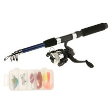 Saltwater Freshwater Telescopic Fishing Rod with Reel Combos and Lure Tackle