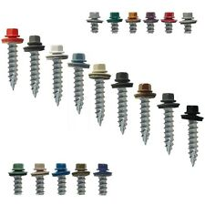 "#14 x 1"" METAL ROOFING SCREWS: Colored Metal Roofing Screw & Siding Screw"