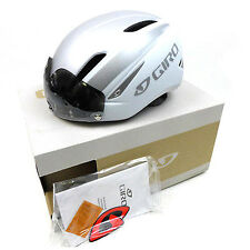 New GIRO Air Attack Shield Cycling Road Bike Helmet Lens Matte White Silver