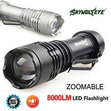 8000LM CREE Q5 AA/14500 ZOOMABLE LED SkyWolfeye Flashlight Mini Torch Lamp US TO