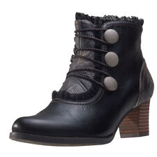Laura Vita Amelia 09 Womens Black Leather Casual Boots Lace-up Genuine Shoes
