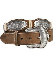 Ariat Men's Scalloped Long Concho Belt - A1010602
