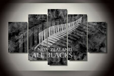 New Zealand All Blacks Feather Modern Prints Canvas Picture Wall Art Home Decor