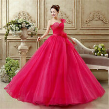Red/Pink Sweetheart Beaded Organza Wedding Dress Party Evening Dress Ball Gown