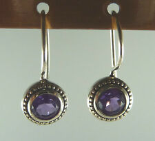 Genuine Amethyst/Topaz/Mystic Fire Topaz/Citrine French-Wire/Balinese Earrings