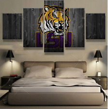 LSU Tigers Sports Logo Picture Abstract Modern Canvas Prints Wall Art Home Decor