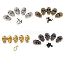 21x15mm Goth Punk Metal SKULL Screwback Spikes Studs Leather Bag Shoes DIY 5 Set