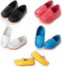 Boys Girls PU Leather Boat Sneakers Kids Baby Oxford Flat Shoes Slip On Loafers