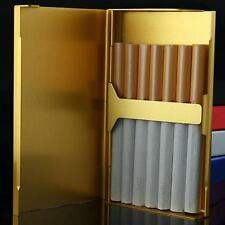 Cigarette Case Lighter Vintage Holder Slim Lady Metal Box Pocket Tobacco Fashion