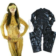 Sexy Women's Wetlook Catsuit Bodysuit Romper Jumpsuit Clubwear Halloween Costume
