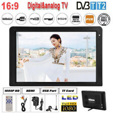 "12"" DVB-T-T2 16:9 Portable TFT-LED 1080p Digital Analog TV Television Player ZY"