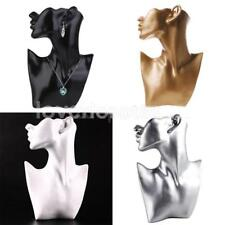 Resin Body Bust Mannequin Necklace Pendant Earrings Jewelry Display Stand Holder