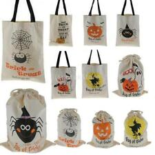Halloween Sack Cotton Canvas Candy Bag Children Gifts Treat or Trick Tote Pouch