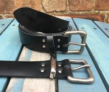 Wolf Buckle Leather Belt Choice of Colours & Keeper Hand Made 100% Real Leather