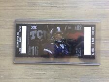 2017 TCU Horned Frogs Football Official Mint Ticket Stub - pick any game!