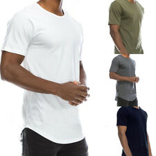 Men Casual Cotton Solid Color T-Shirt Basic Crew Neck Hip Hop Top Tee Popular