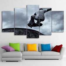 Skateboard Black Classical Art Wall Modern Canvas Picture Printing Home Decor