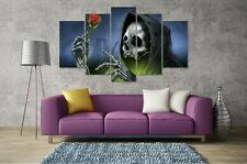 Skull Rose Red Flower Modern Art Wall Poster Picture Canvas Painting Home Decor