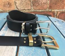 Rhesi Buckle Leather Belt Choice of Colours & Keeper Hand Made 100% Real Leather