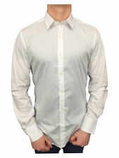 Antony Morato Mens Gold Super Slim Fitted Shirt in White Small