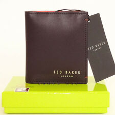 TED BAKER Wallet/card holder Genuine Leather Bifold Brand NEW mens in Gift BOX