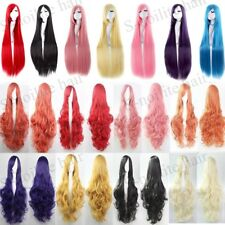 Long Cosplay Hair Wig Long Curly Wavy Straight Full Wig Women Anime Party Dress