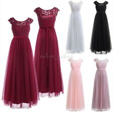 Women's Retro Lace Formal Evening Prom Cocktail Party Bridesmaid Wedding Dress