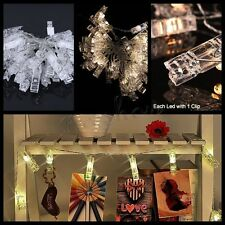 LED Photo Clip String Fairy Lights USB Powered Wedding Party Home Outdoor Decor