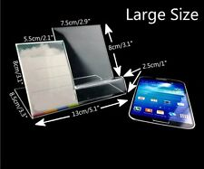 New Phone Stand Small Size Clear Acrylic Display Price Tag Holder Show 2.9""