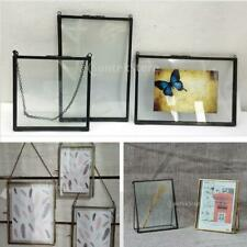 Antique Metal Glass Picture Photo Frame Hanging Freestanding Portrait Decor