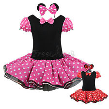 Baby Girls Minnie Mouse Halloween Costume Party Tutu Dress+Headband Outfits Xmas