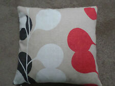 Cushion cover-hand crafted made in 'Harlequin Pod design in Beige , Red and Brow