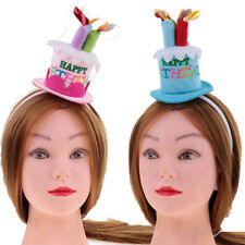 Funny Cute Happy Birthday Cake Candles Headband Women Girls Party Hair Band Gift