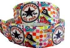 "Retro Gymshoe Sneaker Chuck Inspired 1"" Printed Grosgrain Hairbow Ribbon"