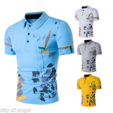 Men Stylish Casual POLO Shirts Slim Fit Short Sleeve Pullover Casual T-Shirt