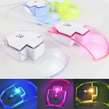 Wired Game Mice Silent Gamer Optical Mouse Transparent LED Ultra-thin PC Laptop