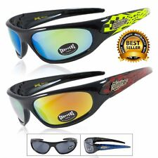 New Choppers Mens Motorcycle Riding Driving Mirrored Lens Sports Wrap Sunglasses