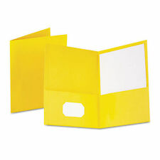 Lot of 125 5 boxes Oxford Twin Pocket Folders, Letter Size, Yellow, (57509) New