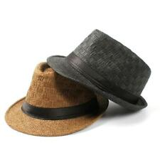 Travel Straw Boater Beach Fedora hat For Gentleman Elegant Lady Seaside Hat