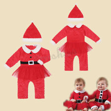 Baby Toddler Boys Girls Holloween Cosplay Santa Christmas Outfit Costume Hat Set