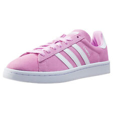 adidas Campus J Kids Trainers Pink White New Shoes